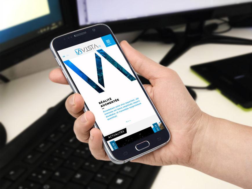 Addviso - Aperçu site sur mobile